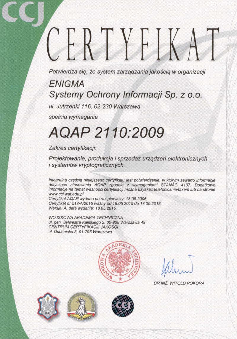 AQAP- certyfikat(ważny 2018)mały