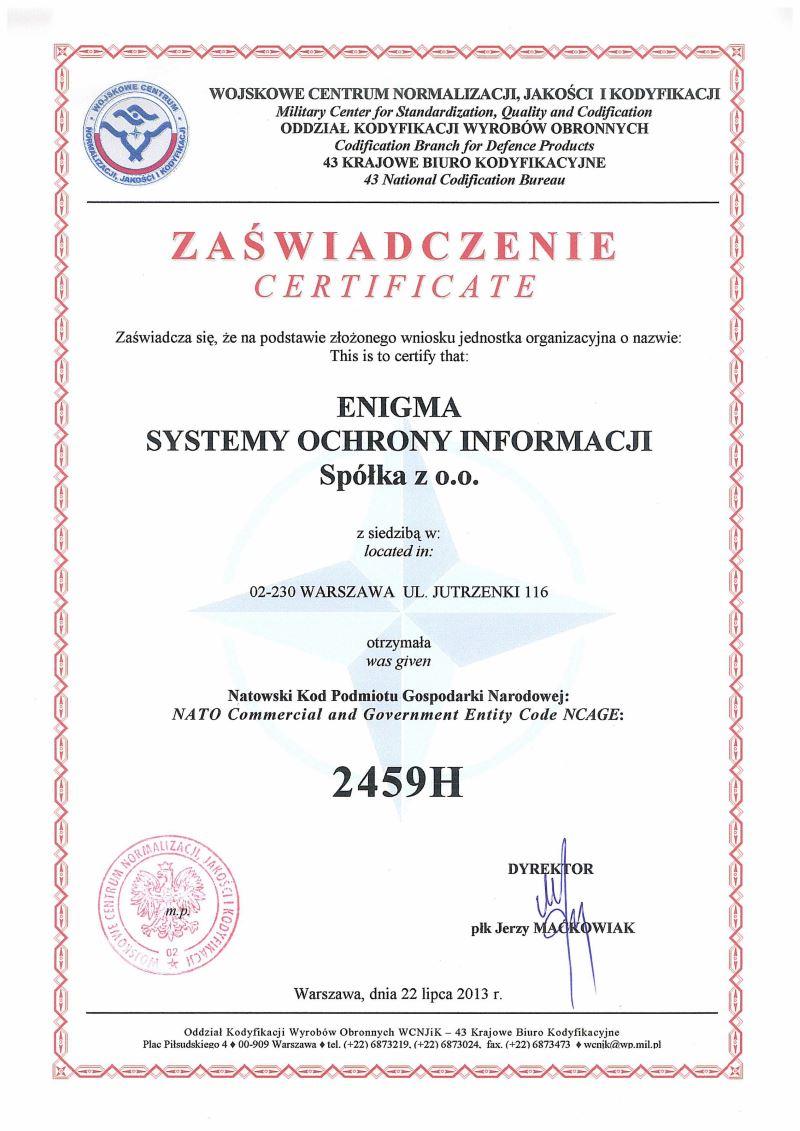 certyfikat-Enigma-NCAGE